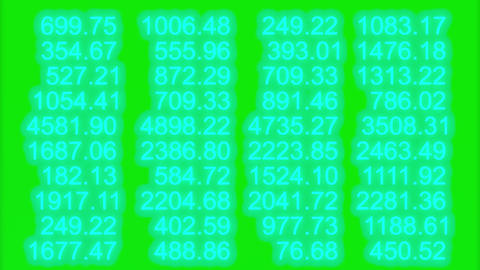 Numbers changing random gradient chroma green Live Action