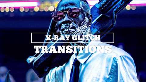 X-Ray Glitch Transitions Premiere Pro Template