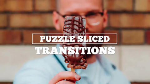 Puzzle Sliced Transitions Premiere Pro Template