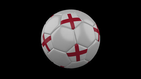 England flag on a ball rotates on a transparent background, alpha channel loop Animation