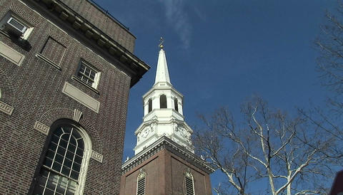 Constitution Hall in Philadelphia Stock Video Footage