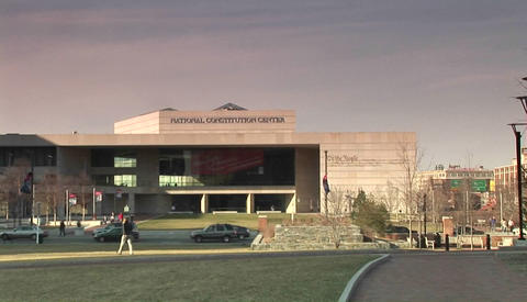 The National Constitution Center in Philadelphia Stock Video Footage