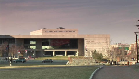 The National Constitution Center in Philadelphia Footage