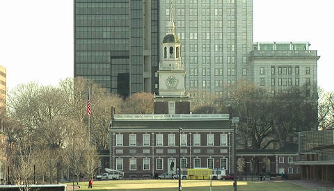 Constitution Hall in Philadelphia Footage