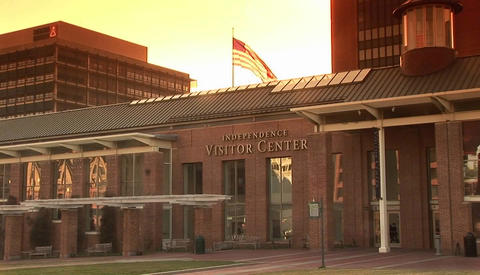 The Independence Visitor Center in Philadelphia Stock Video Footage
