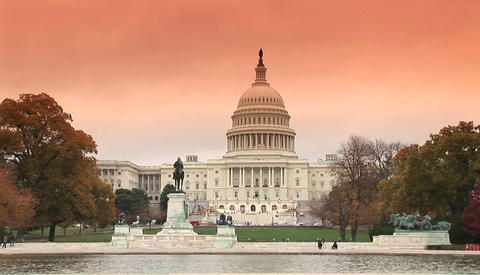 The Capitol building in Washington DC Footage
