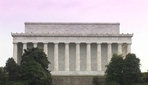 The Lincoln Memorial in Washington DC Stock Video Footage