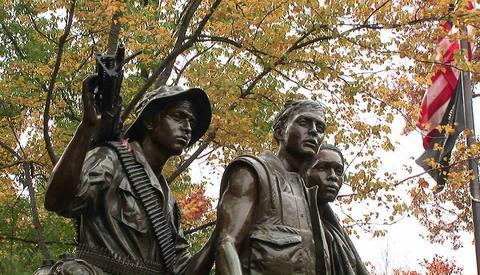 The Vietnam Veteran's Memorial in Washington D.C Live Action