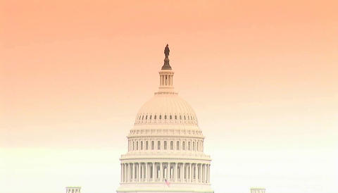 The Capitol building dome in Washington DC Stock Video Footage