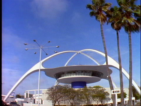 Space-age, modern architecture is displayed at the... Stock Video Footage