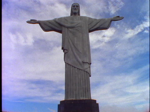 The Christ the Redeemer statue stands over Rio De... Stock Video Footage
