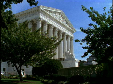 Beautiful art and architecture adorn the U.S. Supreme... Stock Video Footage