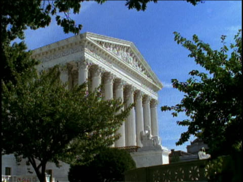 Beautiful art and architecture adorn the U.S. Supreme Court building in Washington DC Footage