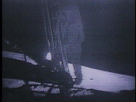 Neil Armstrong walks on the moon Footage