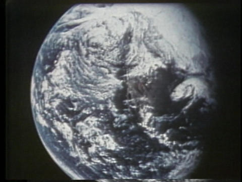 White clouds swirl in the Earth's atmosphere Stock Video Footage