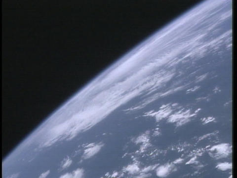 Clouds drift through the Earth's atmosphere Footage