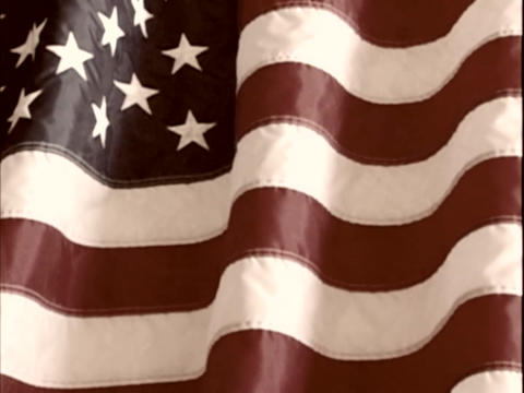 The American Flag Is Displayed stock footage
