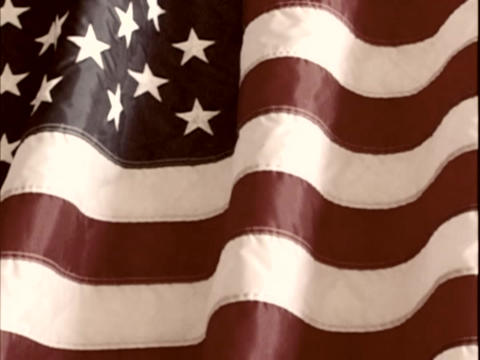 The American Flag is displayed Stock Video Footage