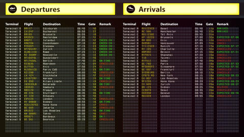 Airport security alert, all get flights cancelled. Bad weather, natural disaster Footage
