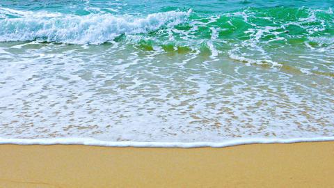 Gentle Waves Washing a Pristine Tropical Beach Footage