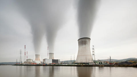 Nuclear Power Station Time Lapse Footage