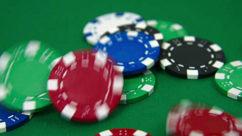 Falling poker chips Footage