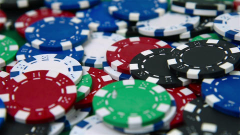 Colored many poker chips Footage