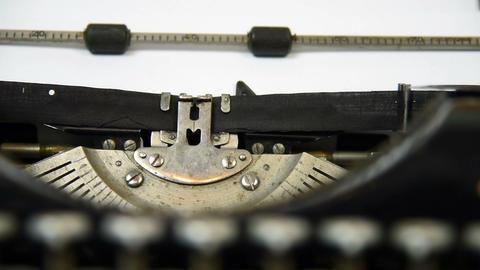 Vintage typing machine Footage