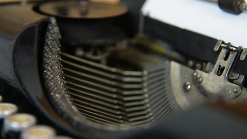 Printing on old typewriter Live Action