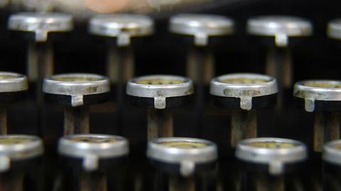 Typewriter Keys Footage