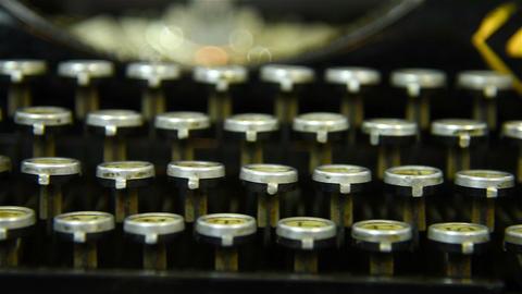 Vintage Typewriter Keys Footage
