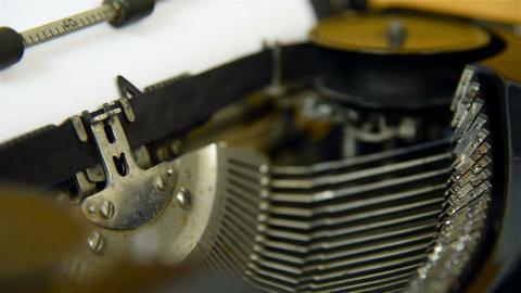 Printing on old typewriter Footage