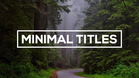 Minimal Titles - After Effects text animation template After Effectsテンプレート