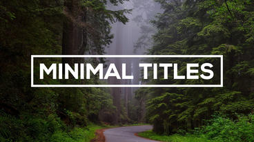 Minimal Titles - After Effects text animation template After Effects Project