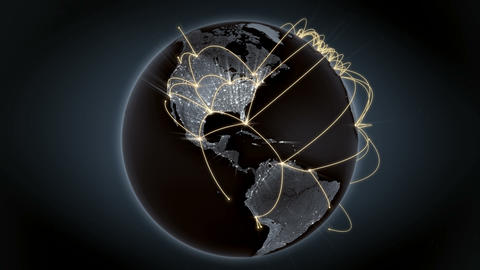 Growing network connection across the world. Internet and business concept. 4K Animation