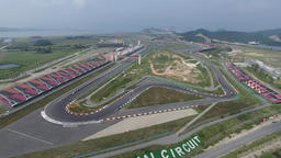 F1 track moving shot Footage