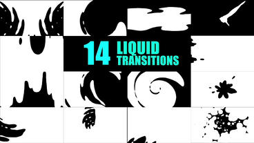 14 Animated Liquid Transitions After Effects Template