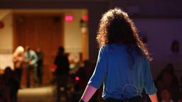 Storyteller at native spoken word event Live Action