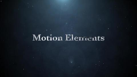 パーティクルシルバータイトル(Particle Silver Title) After Effectsテンプレート