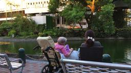 Patient and carer at Taipei Veterans General Hospital Shipai Taipei Taiwan Footage