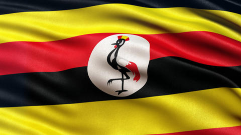 Uganda flag seamless loop Animation