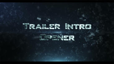 Trailer Intro Ident 3 After Effects Project