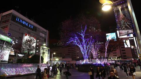 新宿駅イルミネーション001 Footage
