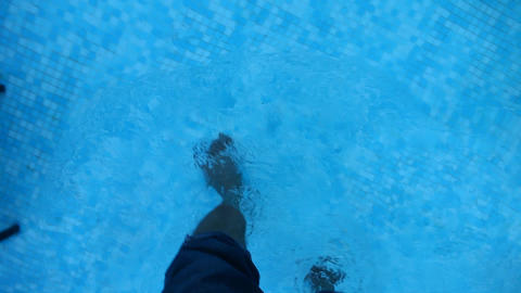 Legs in the water Footage