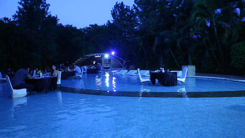 Poolside Restaurant in MoonLight Footage