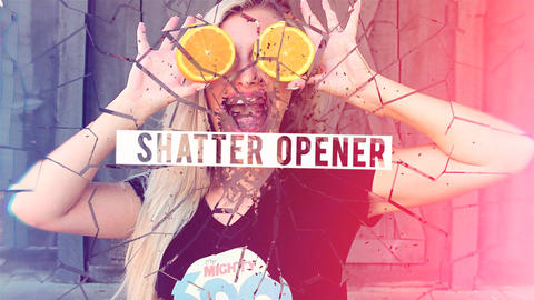 Shatter Opener After Effectsテンプレート