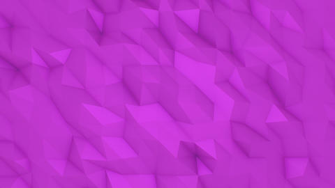 Pink Flowing Polygonal Animated Background CG動画