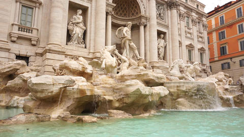 Trevi fontain rome at an angle Live Action