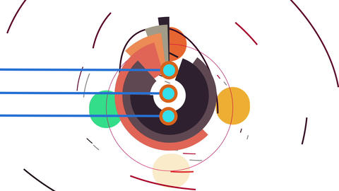 2D Flat Abstract Tech Geometric Video Animation Animation