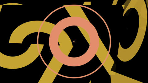 2d flat yellow Abstract Tech Geometric Video Animation Animation
